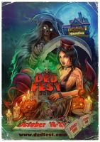 DED FEST 2012 poster by WacomZombie