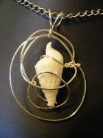 simple wrapped shell pendant 3 by BacktoEarthCreations