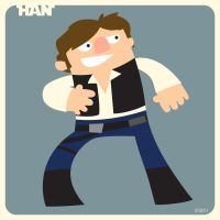 H is for Han by striffle