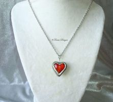 Heart Container Glass Pendant Necklace Custom by TorresDesigns