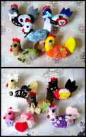 Chicken brooches by untitled512