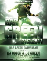 Green Poster Flyer Template by renderyourmind