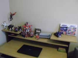 New arrangement of my room, plus Transformers! by forever-at-peace