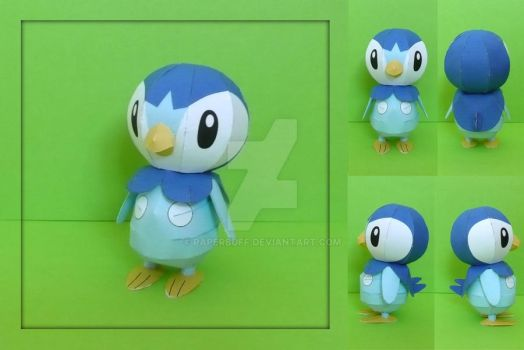 Pokemon Papercraft - Piplup by PaperBuff