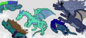 Commission: Sky Full of Dragons by DreamDrifter91