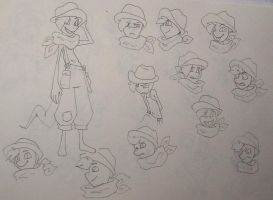 Character design process 2 by UnknownSpy
