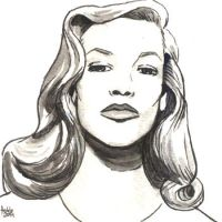 Daily Sketches Lauren Bacall by fedde