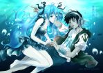 Deep sea girl  Alan Morais G feat Hatsune Miku by hirkey