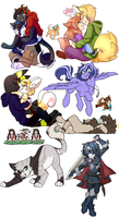 Livestream commissions batch 1! by SkittyStrawberries