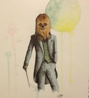 Chewbacca in a Suit by LordColinOneal