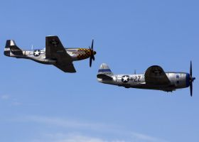 P-51 P-47 Flyby by shelbs2