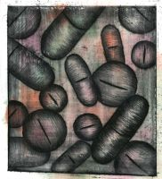 Dry Point Pill (3) by AmyWatkinson
