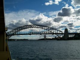 sydney harberbridge from ferry by conconlish