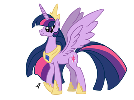 Twilight the Alicorn by xscaralienx
