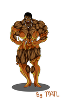Commission - Vixen muscle growth 3 by MATL