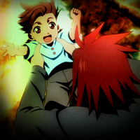 Tales of Symphonia - Lloyd and Kratos icon by LeiaMordio