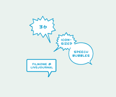 Speech bubbles 100x100 by filmowe