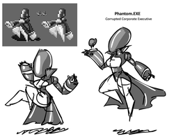 SWITCH - Boss concept - Phantom.EXE by StudentOfRubber
