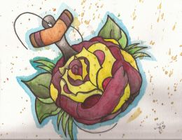Anchors and Roses by ThatZombieGuy
