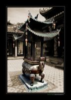 Chinese Temple by Keeveneo