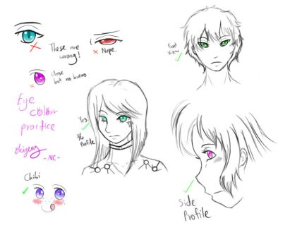 Eye Colouring Practice by naochandoodles