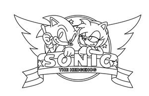Sonic and Amy Uncolored by sonictopfan