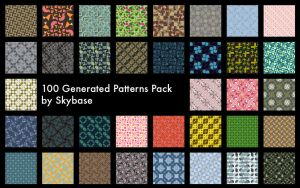 100 Generated Patterns Pack by Skybase