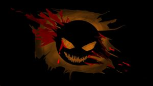 smiley background...evil smile that is by shinigami-of-death02
