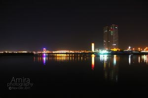 Ras al Khaimah city night view 2 by amirajuli