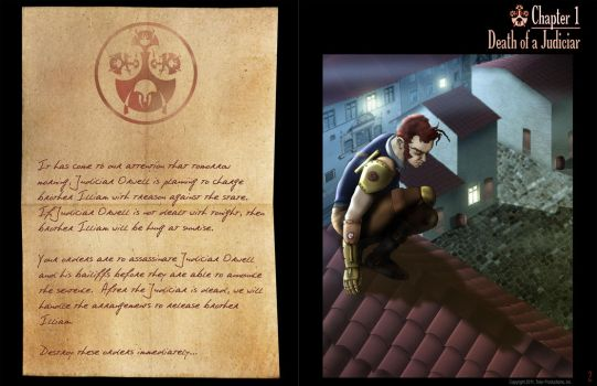 Steampunk Graphic Novel Sample by tolerdesigns