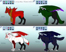 FREE DGM Themed Wolf Adoptables -CLOSED- by LotusKoi