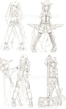 Character Sketches by PseudoWonderland