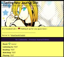 Lily Journal Skin by Inu-Hinata