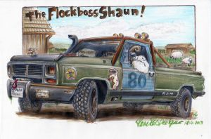 The Flockboss Shaun with VIDEO by HorcikDesigns