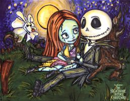 Sally + Jack romantic evening by JadeDragonne