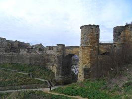 Scarborough castle by cannibalmoth