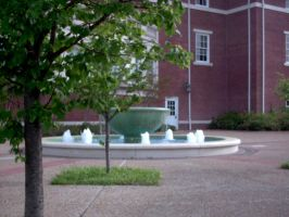 Big Fountain With Trees by rkStock