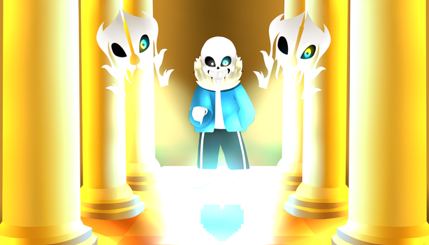 Sans battle by StandingBerry