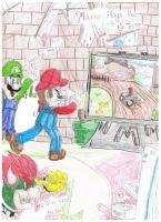 Mario Plays the Wii :3 by FancyTonic
