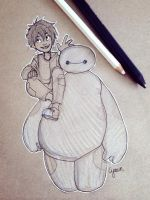 Hiro and Baymax  Big hero 6 by Cyarin