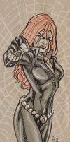 Daily Sketch - Black Widow by dichiara