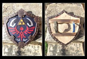 Hylian Shield by burning-shark