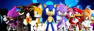 Sonic The Hedgehog Reminiscent Dream War Cast by shadow759