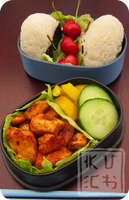 Bento - Cherry Onigiri by Chef-Kuching