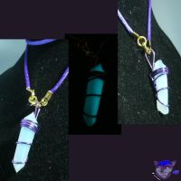 Soul Gem Necklace ~Purple Satin~ by NightWolfRose