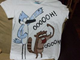 Regular show T-shirt O.O by theoriginalgatu