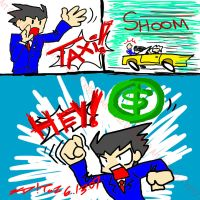 Phoenix Wright- CRAZY TAXI by kd99