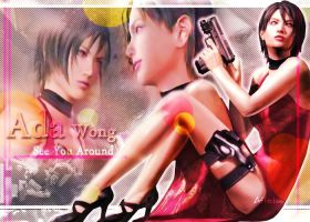 Ada Wong wallpaper by BlacknessAffection