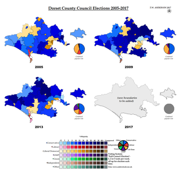 Dorset County Council Elections 2005-2017 by AJRElectionMaps