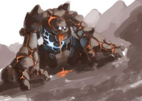 Elemental monster golem by Slange5